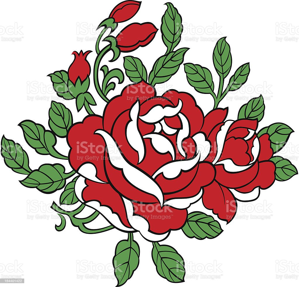 rose illustration royalty-free stock vector art