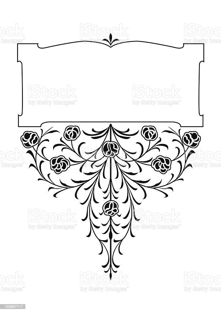 rose patern book scroll royalty-free stock vector art