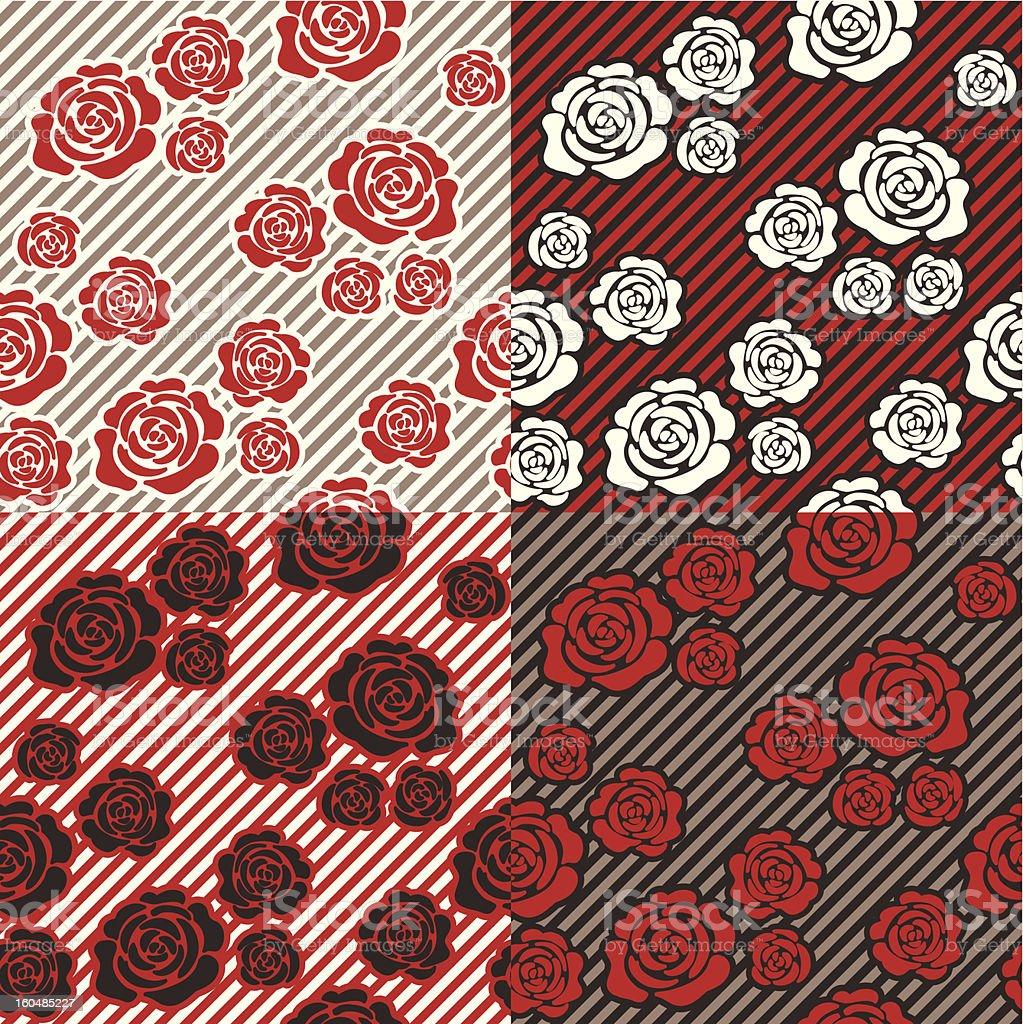 rose pattern 01 vector art illustration