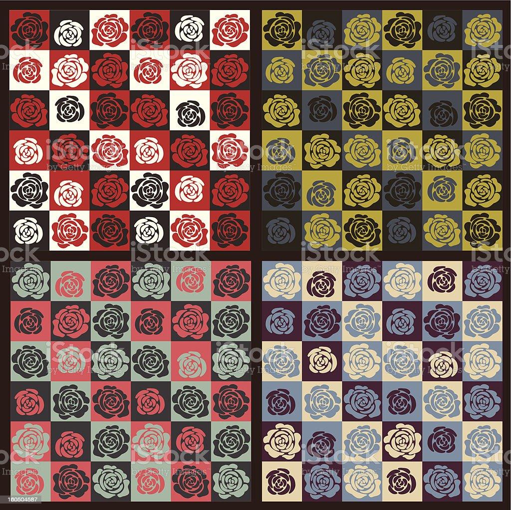 rose pattern 02 vector art illustration