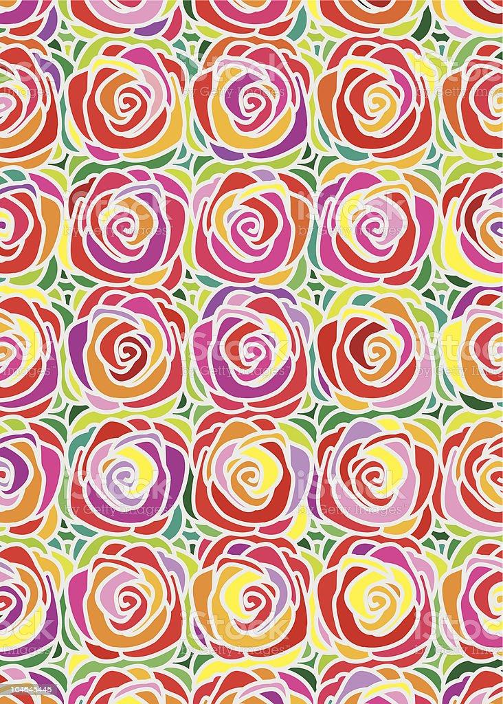 Rose Pattern royalty-free stock vector art