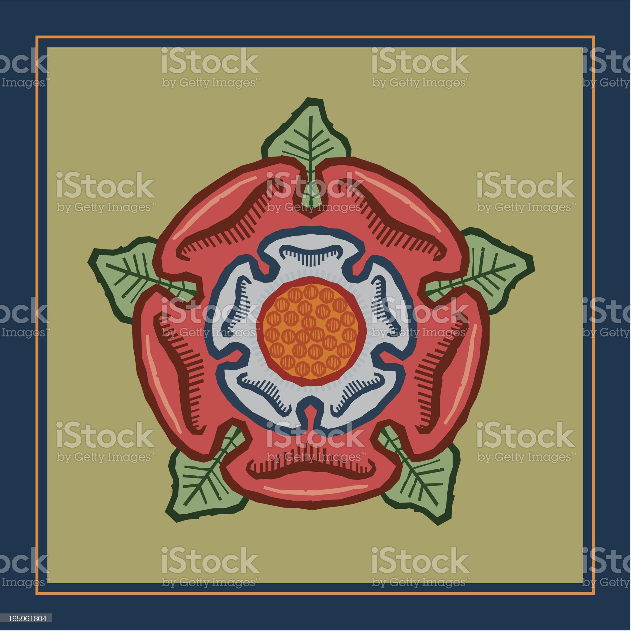 Rose Pub Sign royalty-free stock vector art