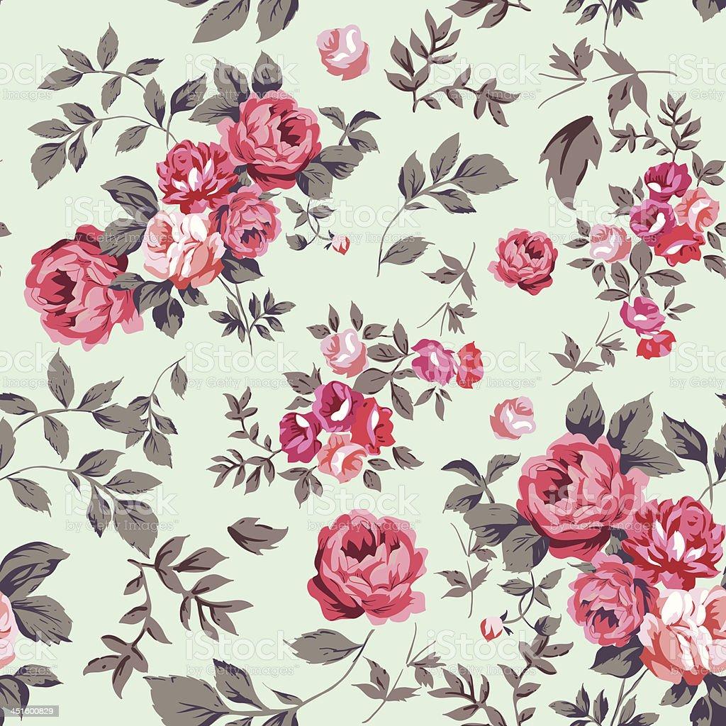 Rose Seamless Pattern vector art illustration