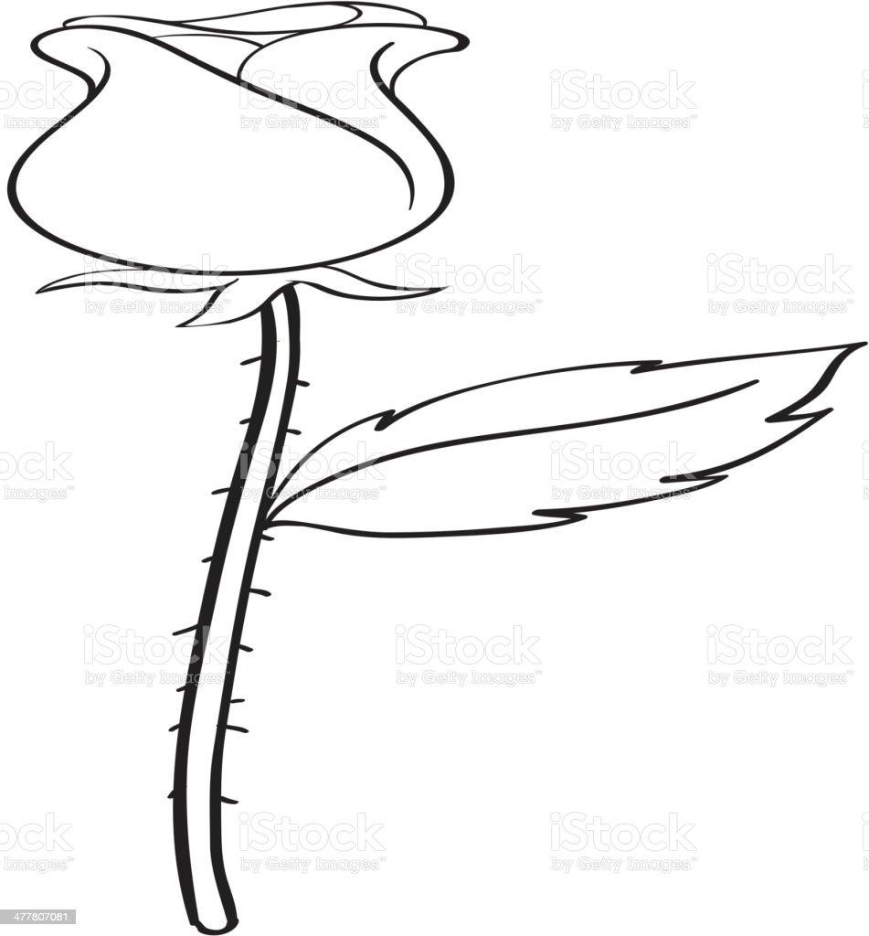 Rose sketch royalty-free stock vector art