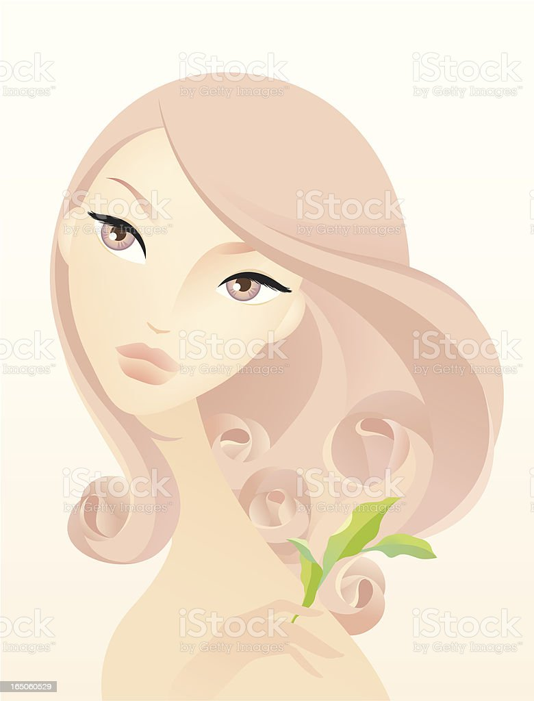 Rosa royalty-free stock vector art