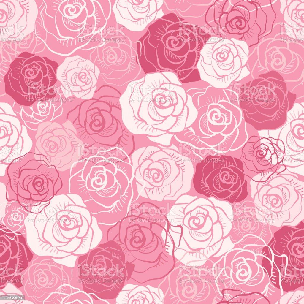 Rose vector seamless pattern. royalty-free stock vector art