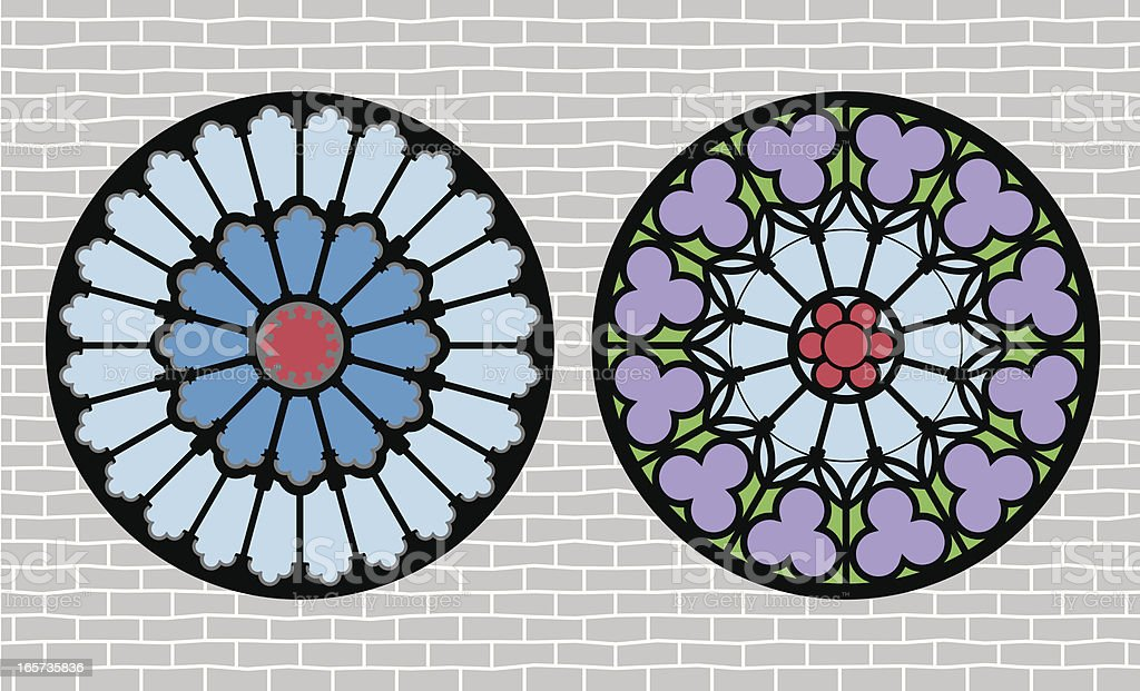 Rose Window vector art illustration