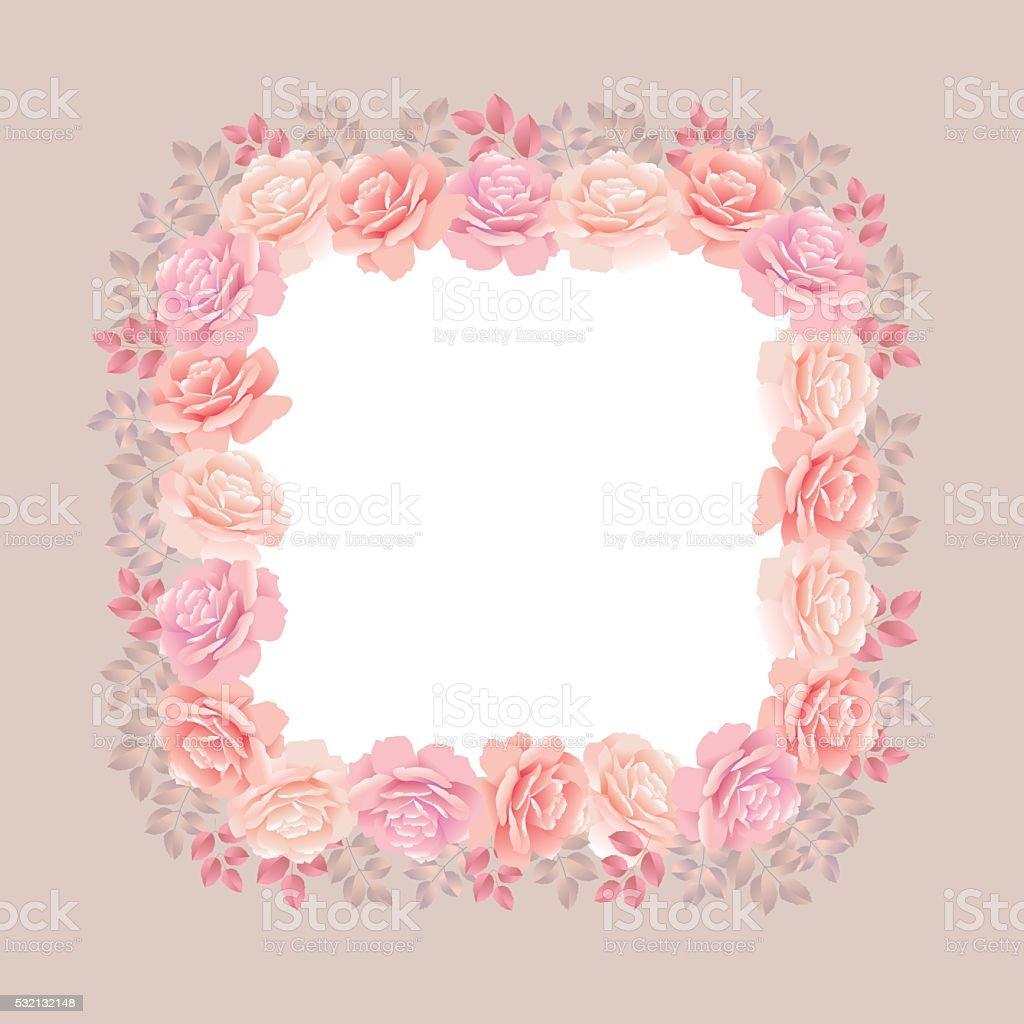 rose wreath background vector illustration vector art illustration
