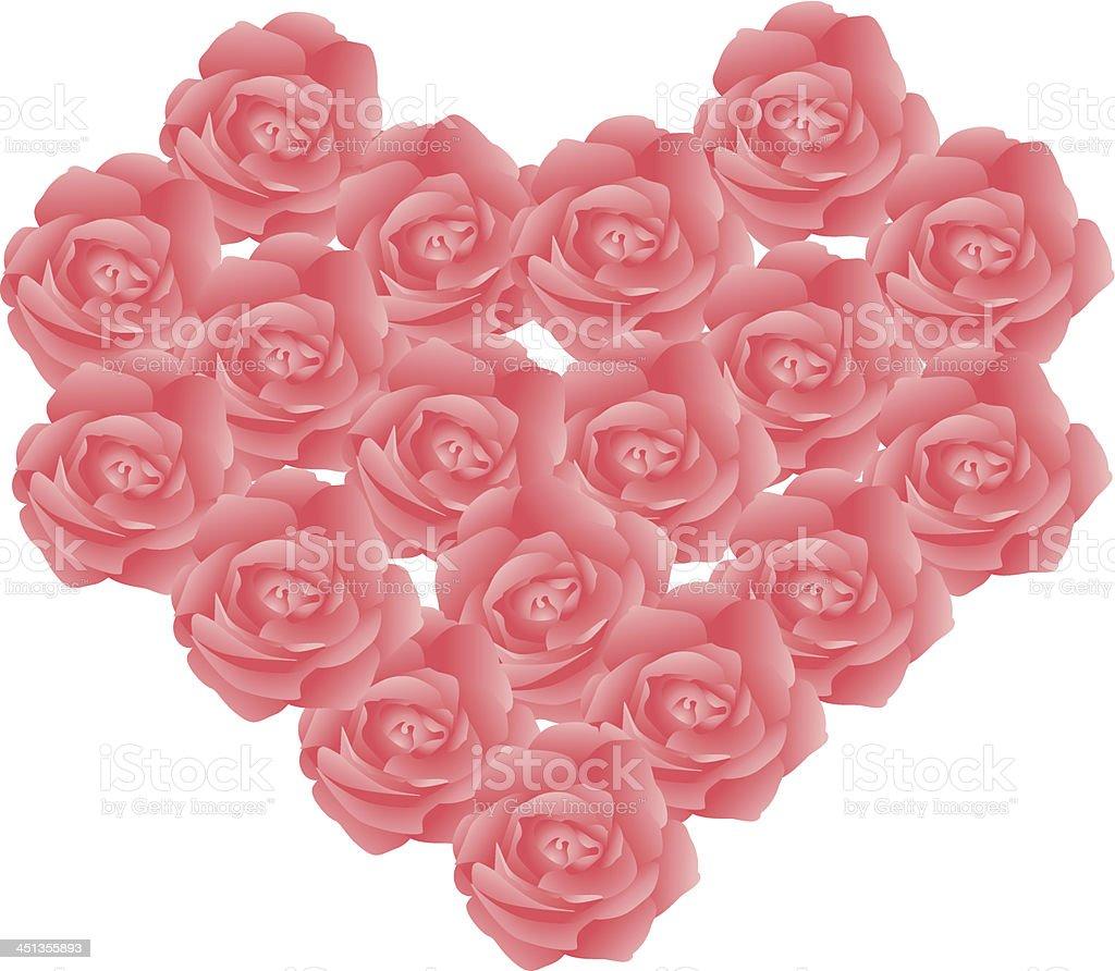 roses arrange in love shape royalty-free stock vector art