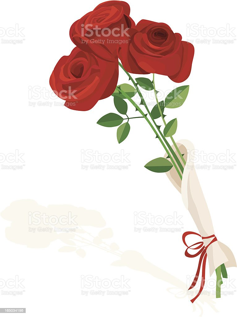 Roses for Valentine royalty-free stock vector art