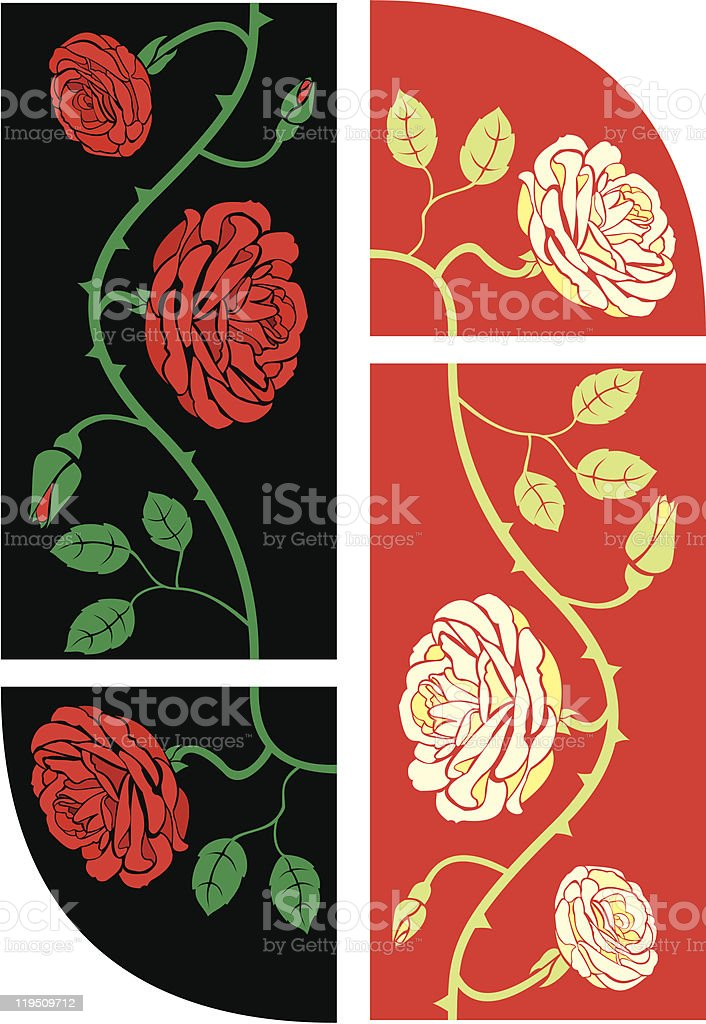 roses frame seamless elements royalty-free stock vector art