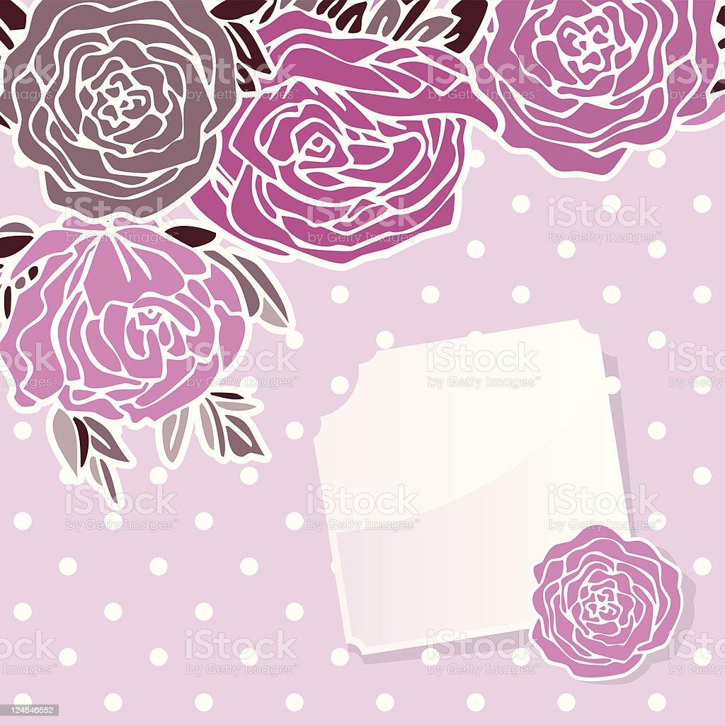 Rose's Greeting Card royalty-free stock vector art
