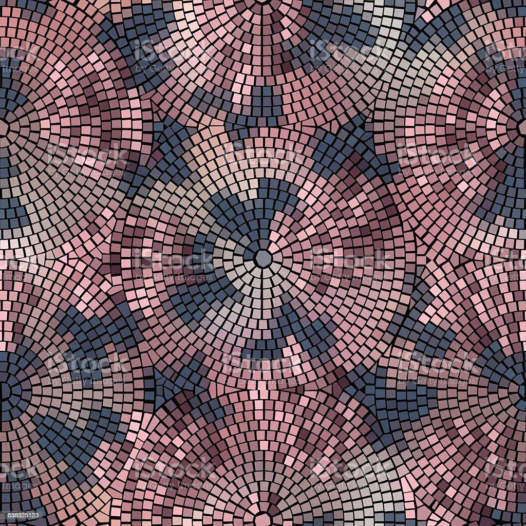 roses mosaic vector art illustration
