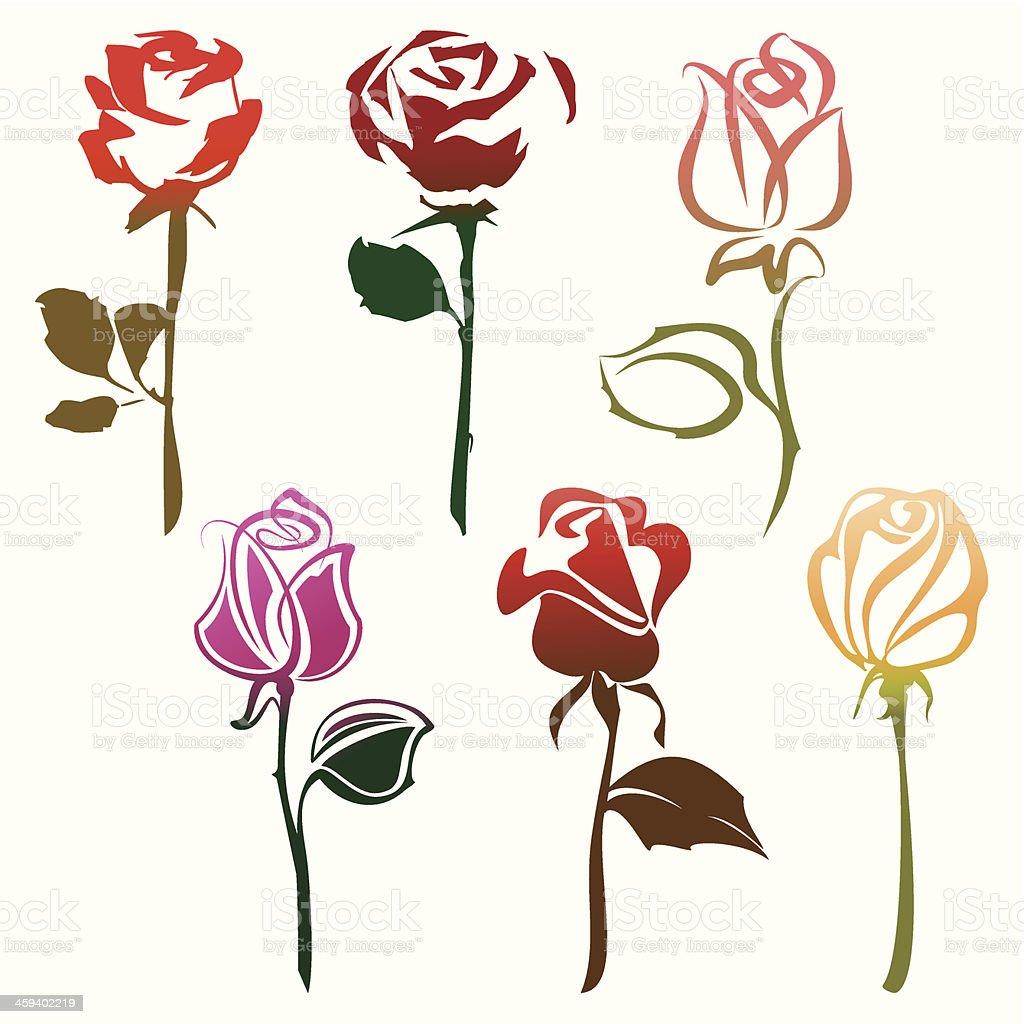 Roses sign vector art illustration