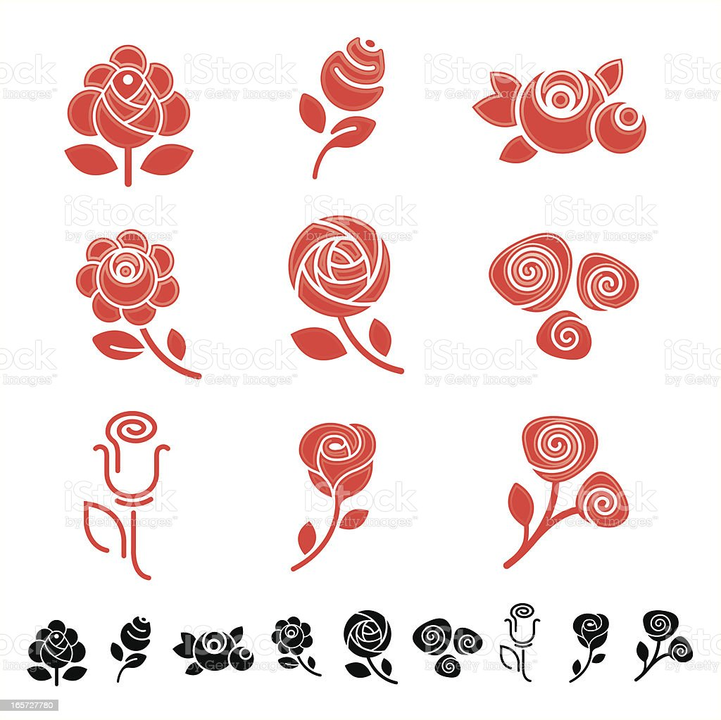 Roses vector art illustration