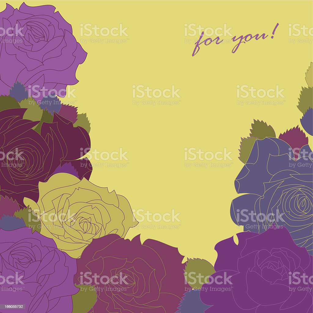 Roses (For you!) royalty-free stock vector art