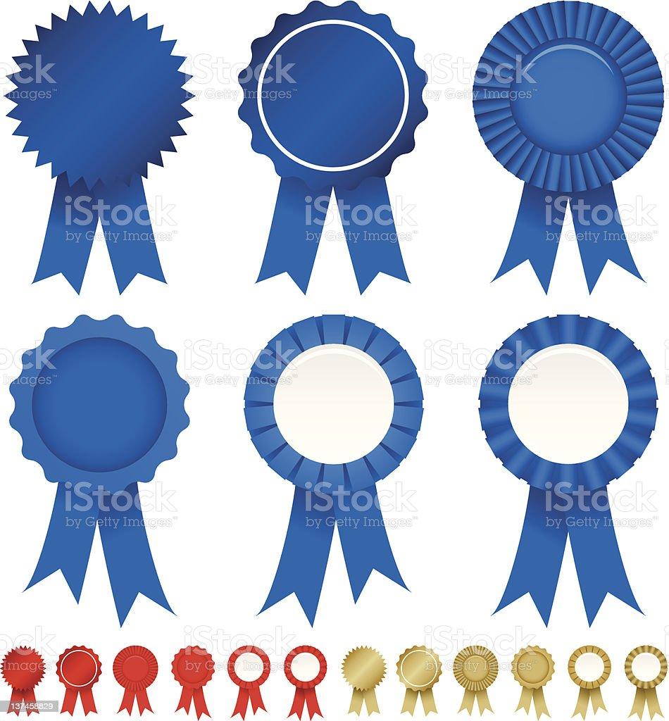 Rosette Ribbon Group Vector royalty-free stock vector art