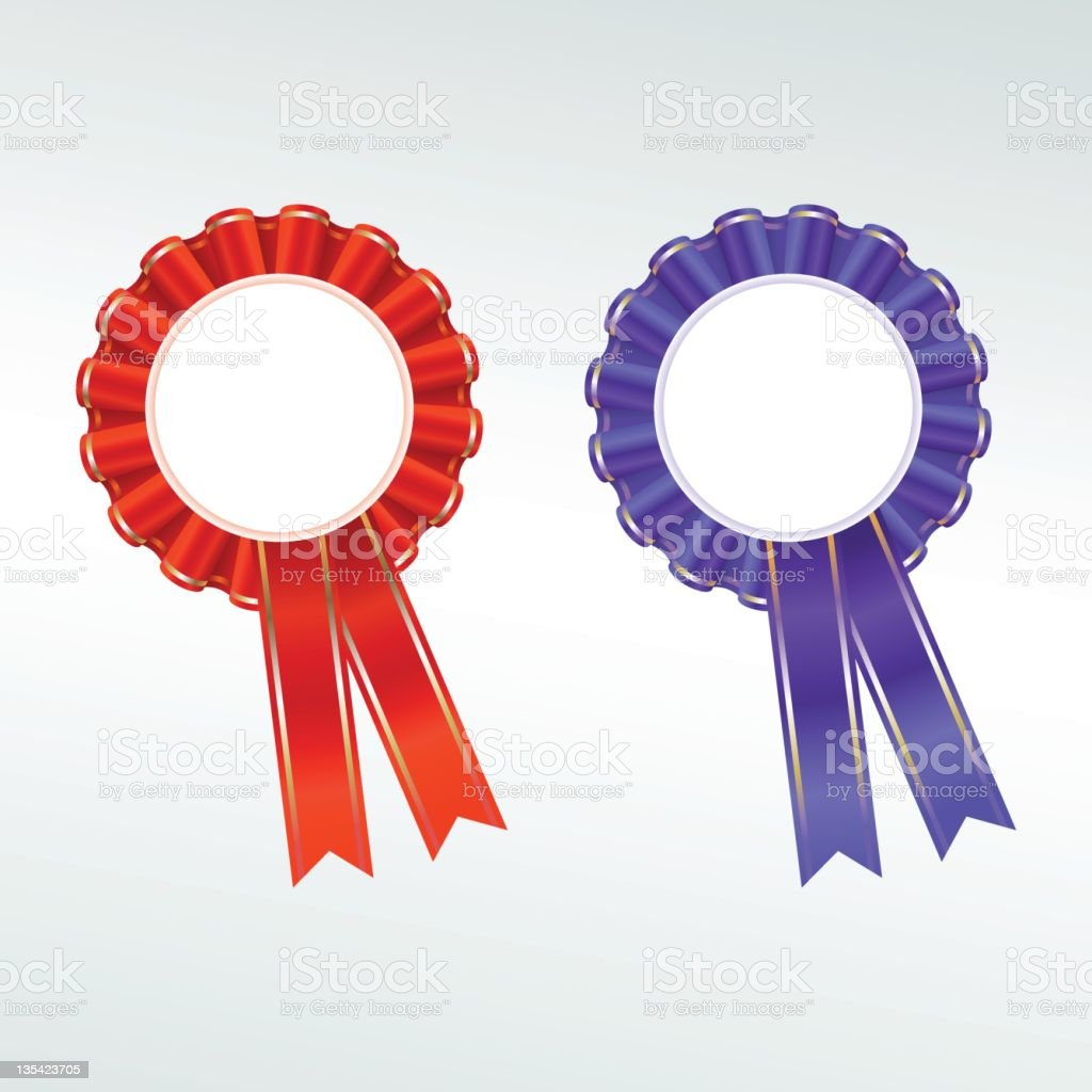 Rosette ribbon royalty-free stock photo
