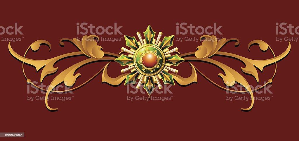 Rosette Rule Line royalty-free stock vector art