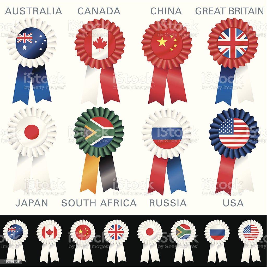 ECONOMIC Rosettes royalty-free stock vector art