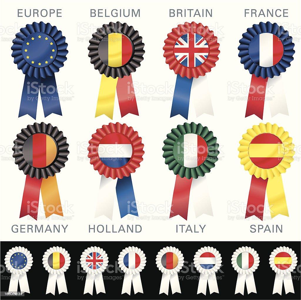 EUROPEAN Rosettes royalty-free stock vector art