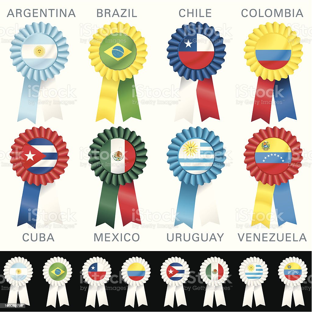 SOUTH AMERICAN Rosettes royalty-free stock vector art