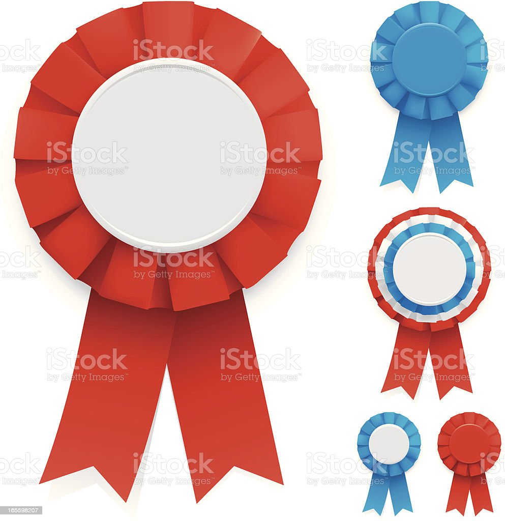 Rosettes royalty-free stock vector art