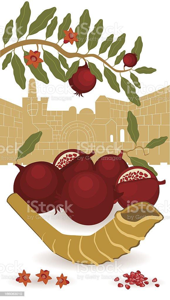 Rosh Hashanah In Jerusalem royalty-free stock vector art