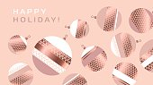 rosy pastel color and gold metal texture vector background with