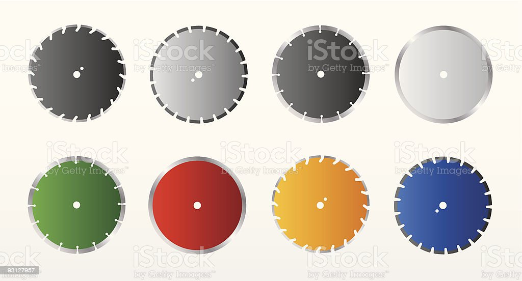 Rotary blades vector art illustration
