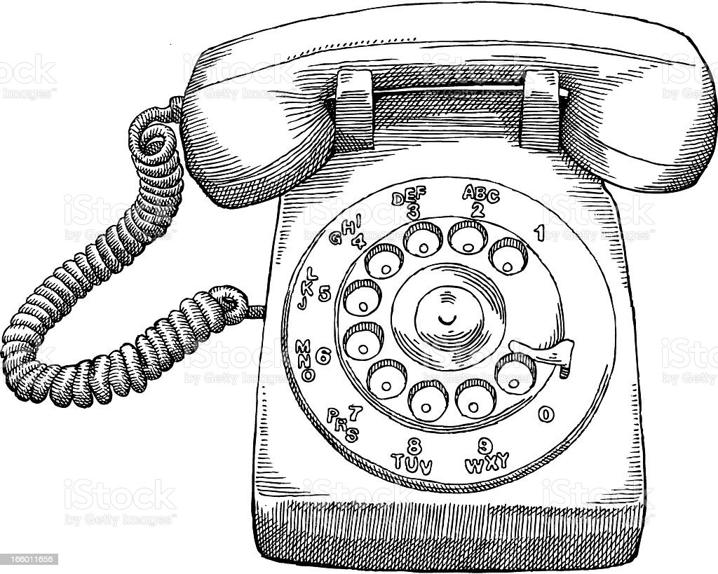 Rotary Telephone royalty-free stock vector art