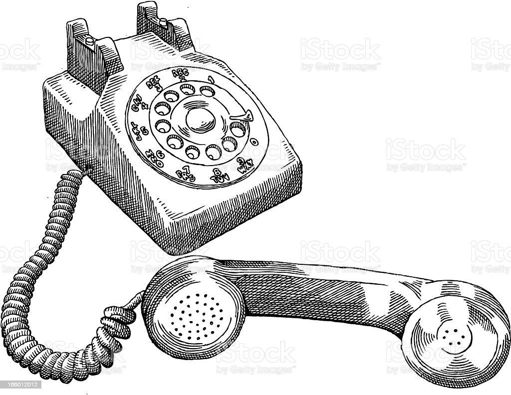 Rotary Telephone royalty-free stock vector art