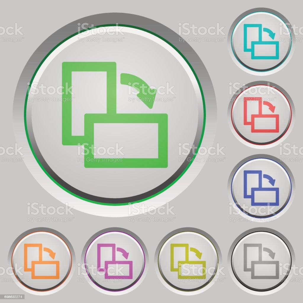 Rotate right push buttons vector art illustration