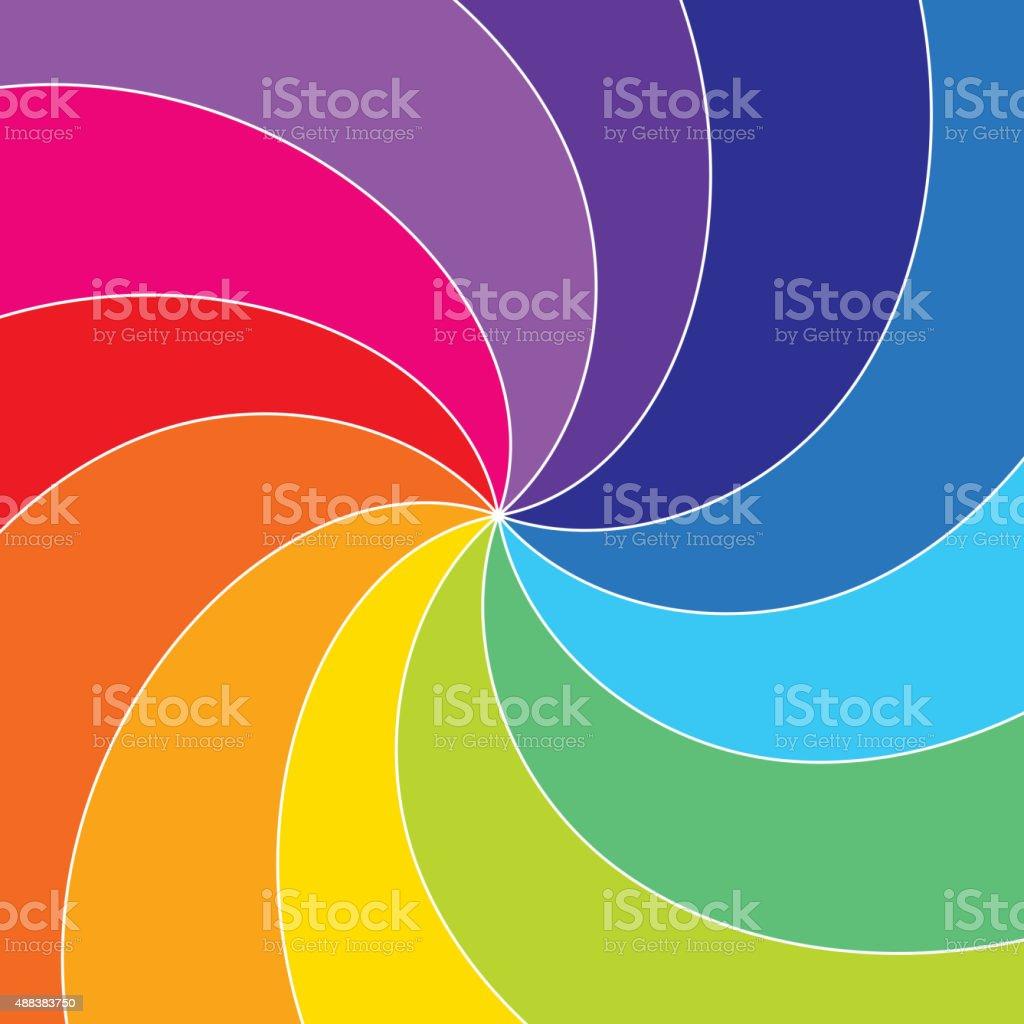 Rotating rainbow vector art illustration