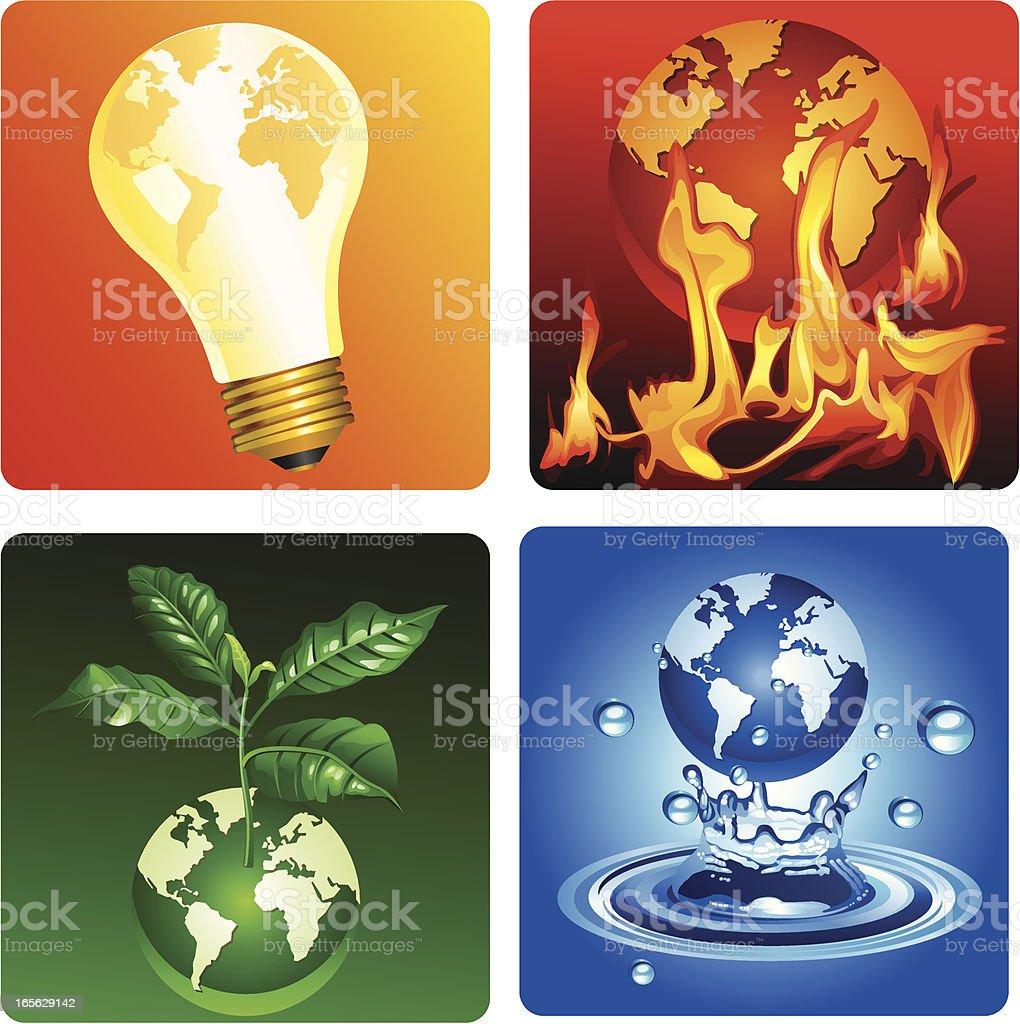 ?rotecting the earth royalty-free stock vector art