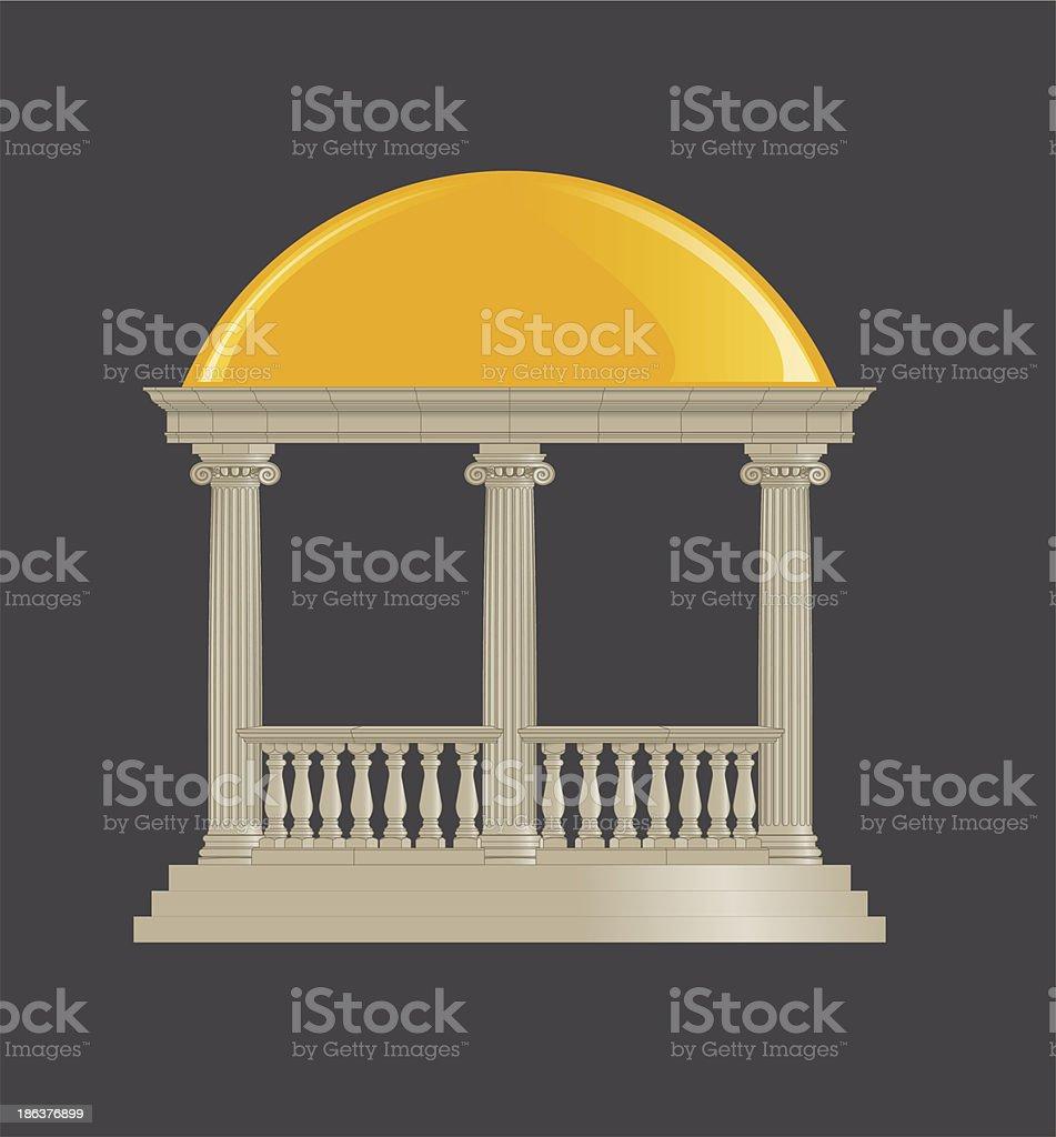 Rotunda classic, ionic order vector art illustration