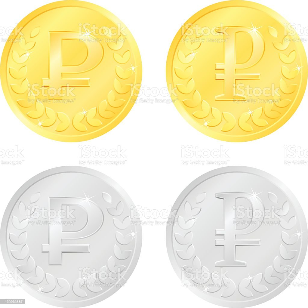 Rouble Coins royalty-free stock vector art