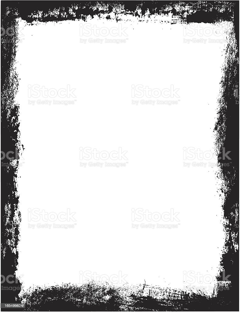 rough grunge frame royalty-free stock vector art