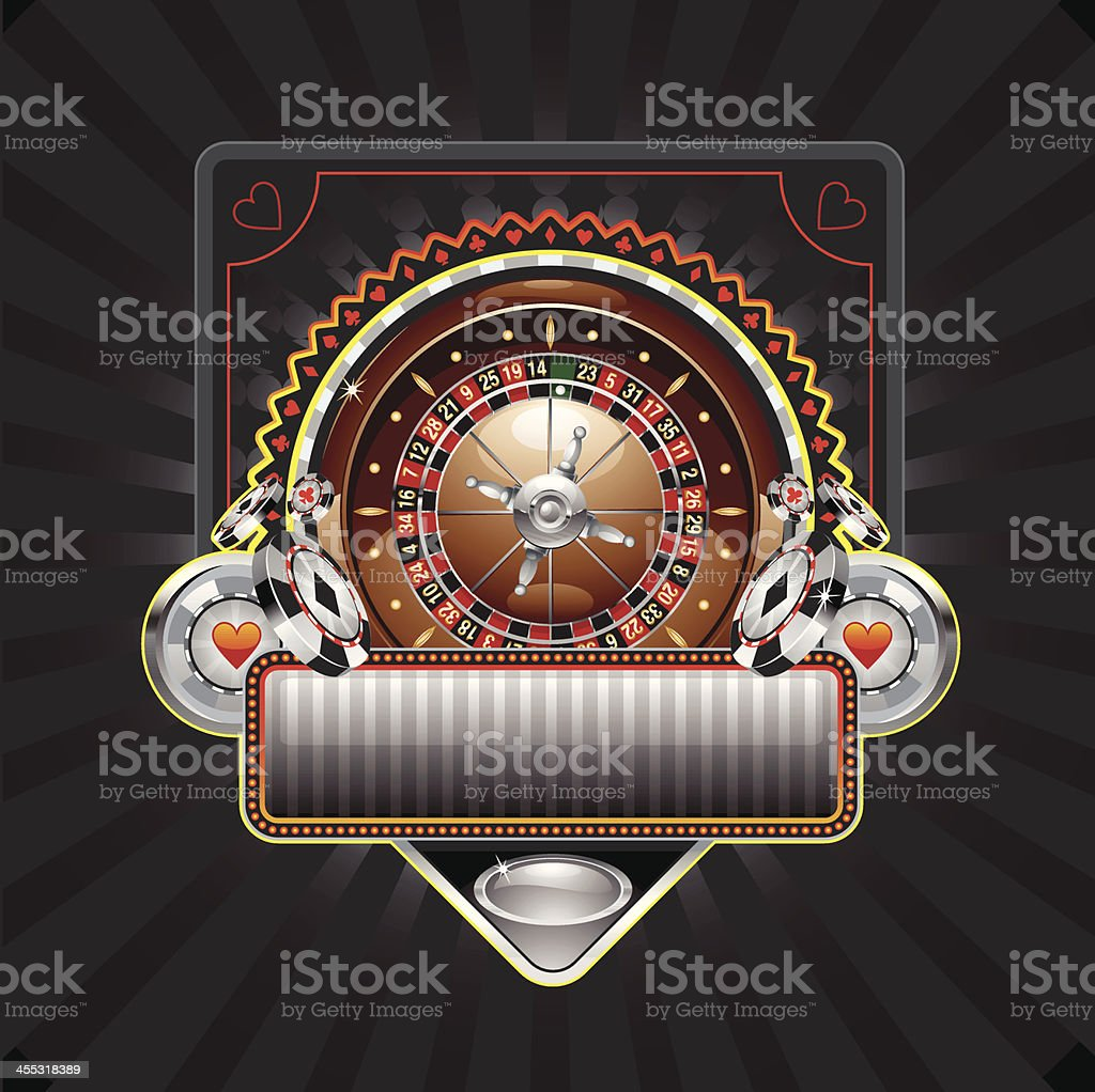 roulette banner royalty-free stock vector art