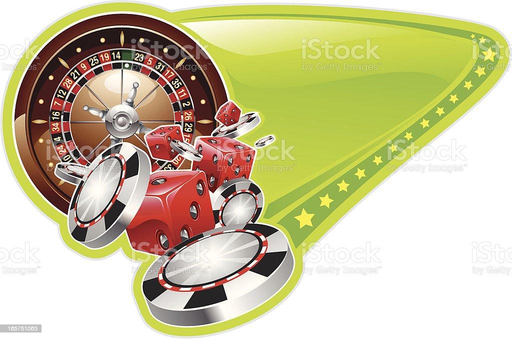 roulette poker design royalty-free stock vector art
