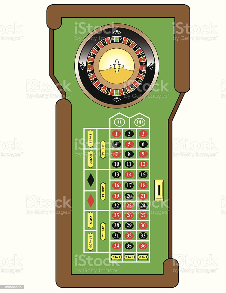 Roulette Table royalty-free stock vector art