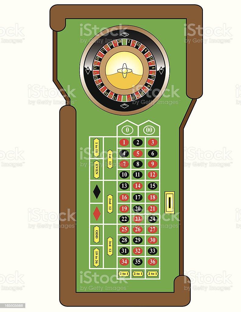 Roulette Table vector art illustration