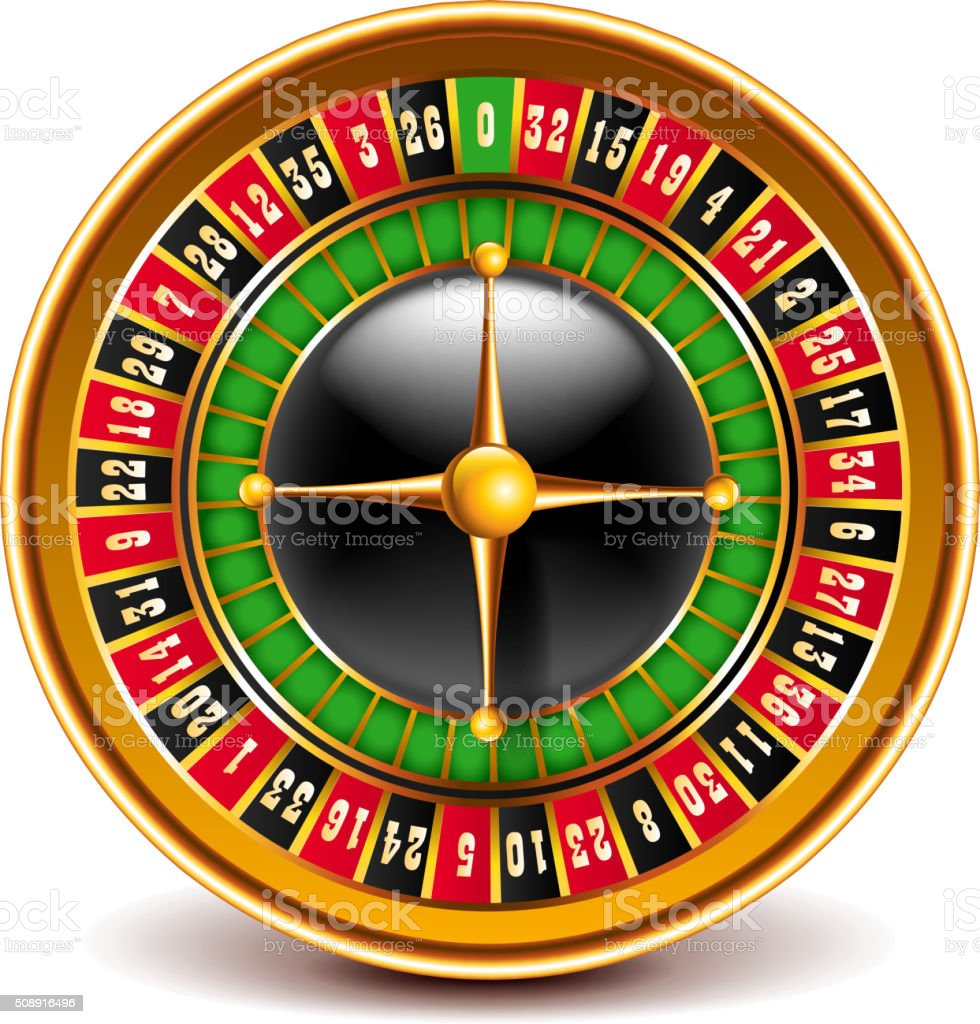 Roulette top view isolated on white vector vector art illustration