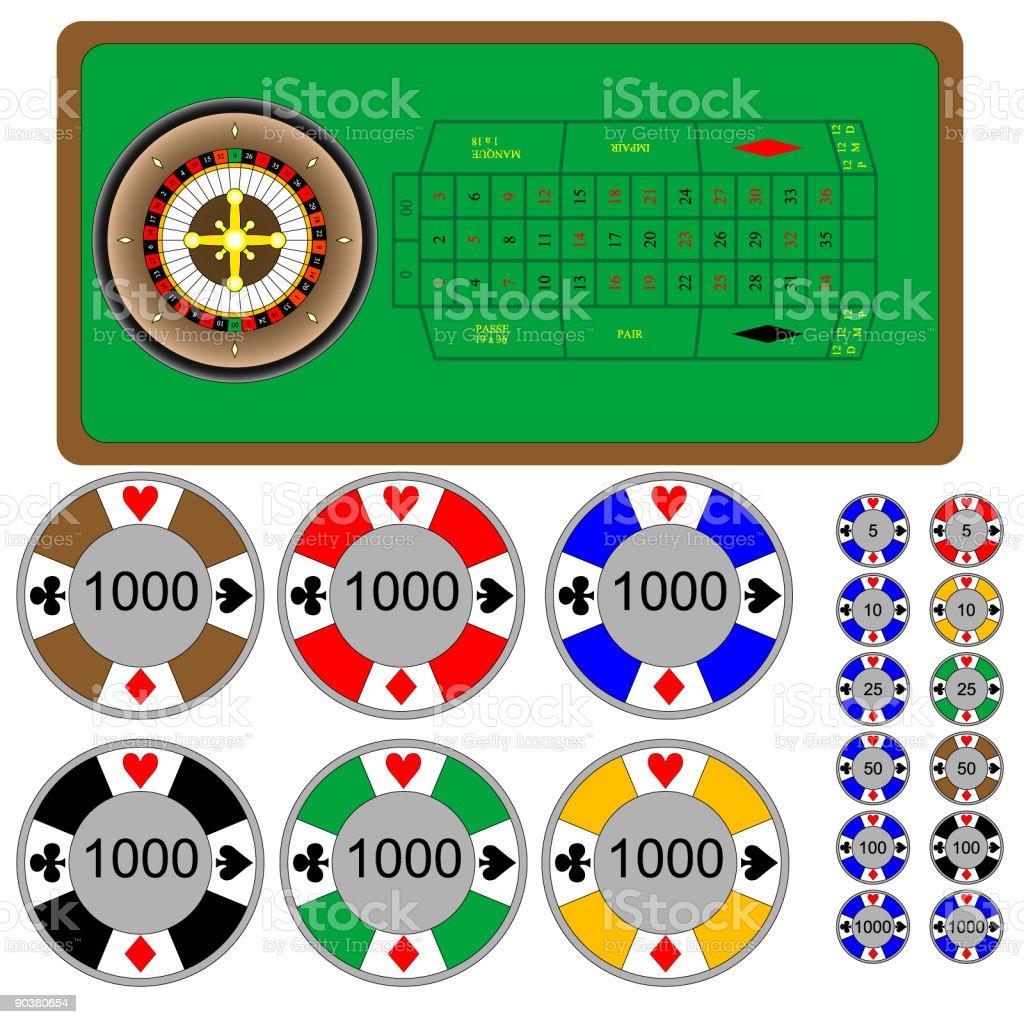 roulette vector art illustration