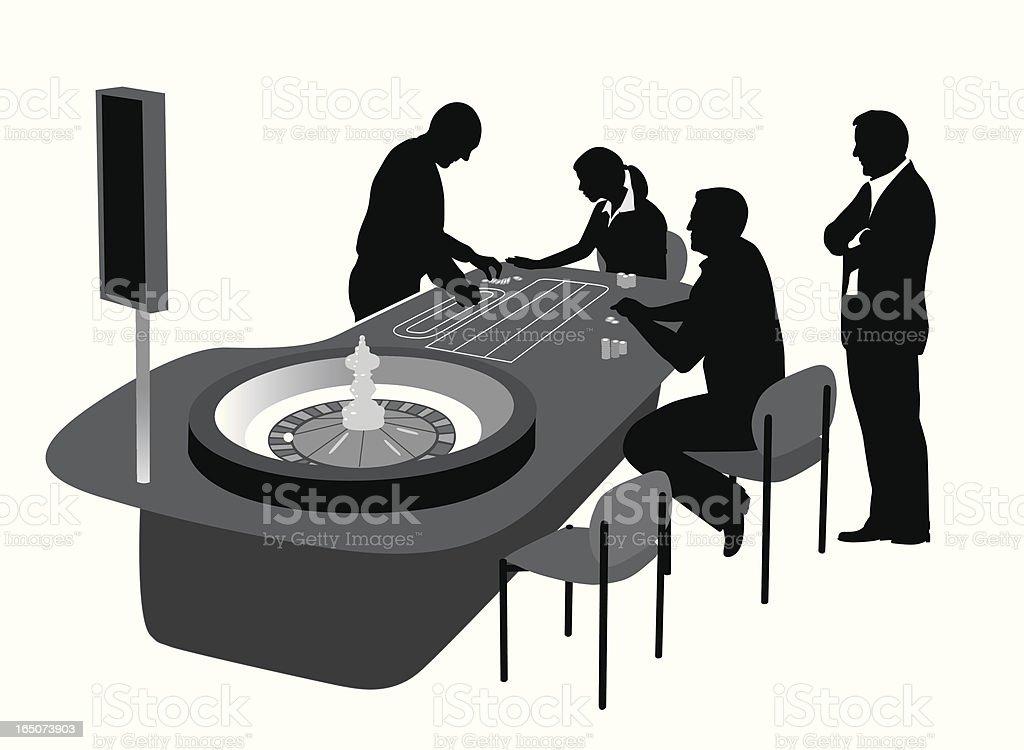 Roulette Vector Silhouette vector art illustration