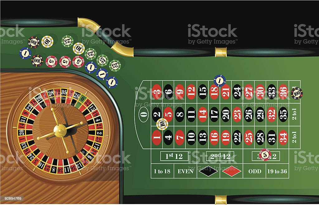 Roulette. Vector. royalty-free stock vector art