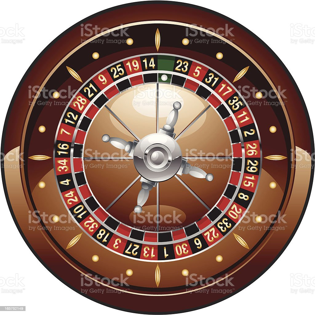 roulette wheel icon royalty-free stock vector art