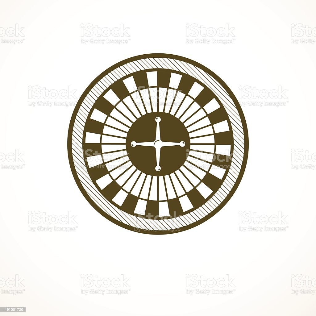 Roulette wheel logo, casino design, vector illustration vector art illustration