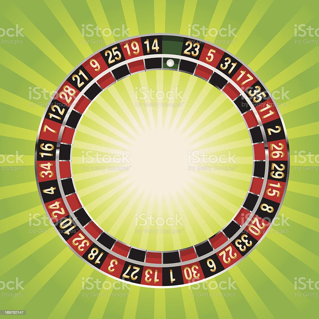 roulette wheel numbers vector art illustration