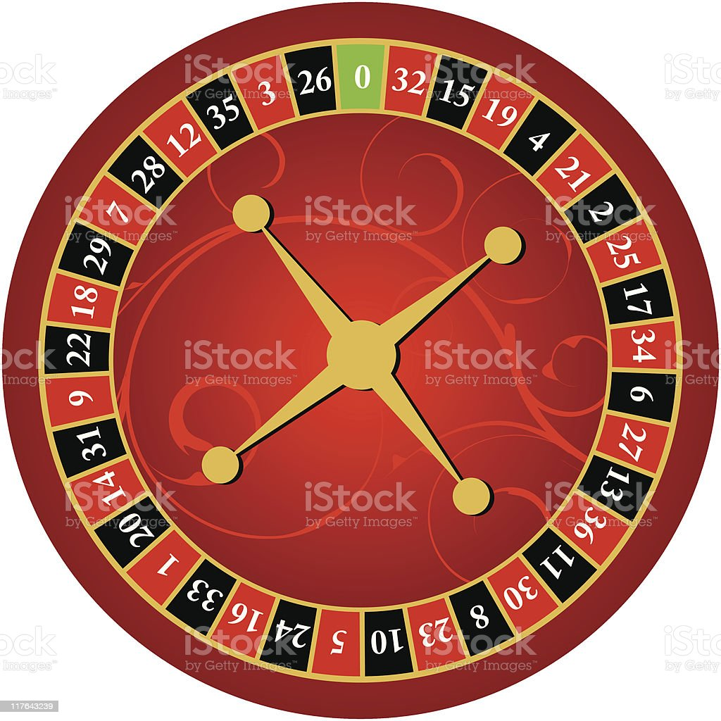 roulette wheel three royalty-free stock vector art